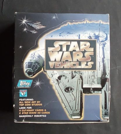 star wars vehicles topps trading cartas