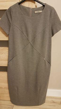 Essenza szara sukienka z jerseyu 36