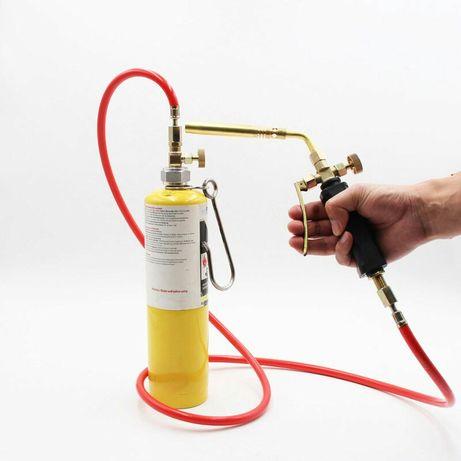 Газовая сварочная горелка с шлангом под баллон МАПП Газ