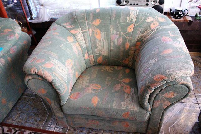 2 FOTELE lux bardzo wygodne zieleń OKAZJA fotel porządne