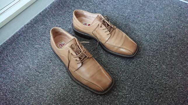 Buty skórzane 100% skóra - rozmiar 40.5 (7)