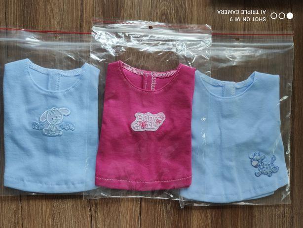 Bluzeczka  dla lal r 41-45 cm typu baby Born i hiszpańskie.