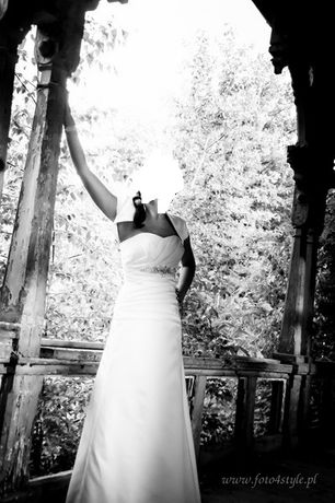 sukienka ślubna 38+ bolerko Visual Chris PROMOCJAAAA