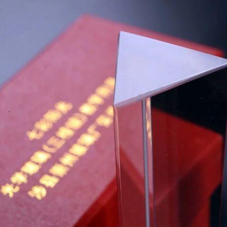 Pryzmat szklany duży do zdjęć efekt wizualny NOWY IDEALNY trójkątny
