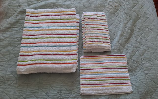 Conjunto toalhas turcas Portuguesas