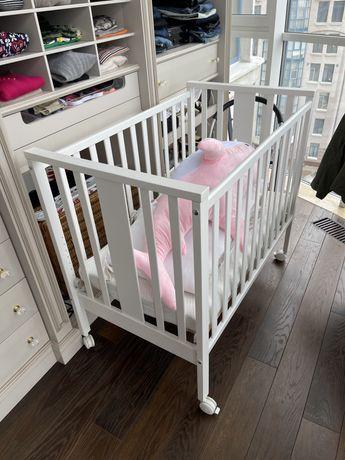 Кроватка с колесиками Erbesi MINI 100*60 приставная