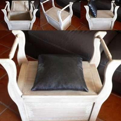 Arca / banco em madeira