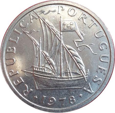 20 moedas de 5$00 ano 1978