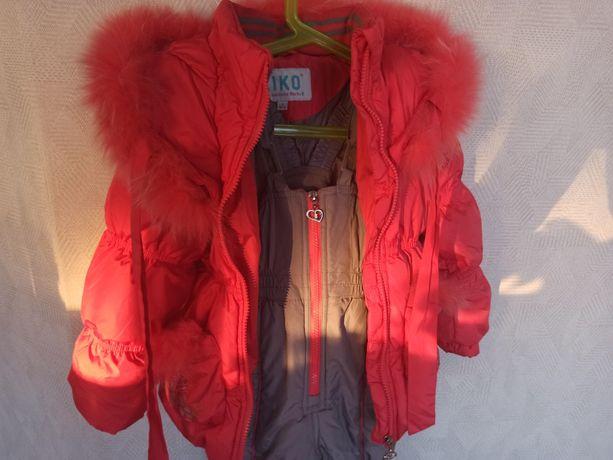 Зимний комбинезон+курточка kiko - 98 см. рост. Пух-перо