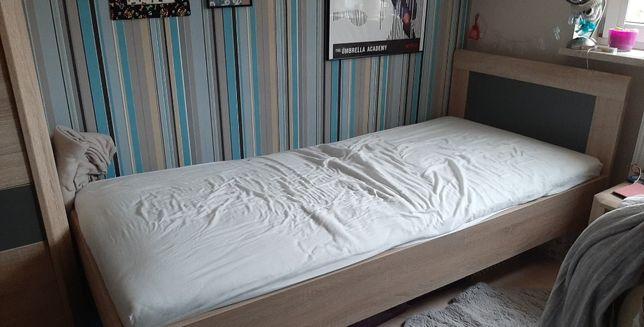 Łóżko i stelaż wkład sprężynujący YOOP Forte 90x200 dąb sonoma