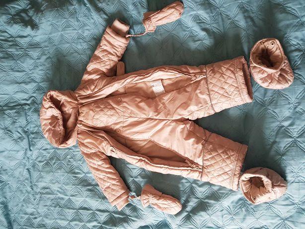 Coccodrillo kombinezon dziewczęcy 80 zima sanki 12mscy stan idealny