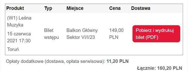 Bilet na koncert Podsiadło, 15.06, Toruń, 17:30