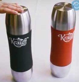 KRAUFF детский термос с 2-мя чашками 350 мл. красный, черный