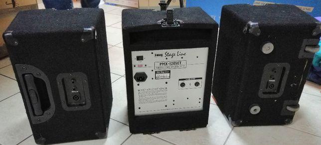 IMG Stage Line zestaw PMX-120SET kolumny mikser