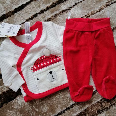 Комплект костюм новогодний C&A baby club кофта штаны H&M Zara next нов