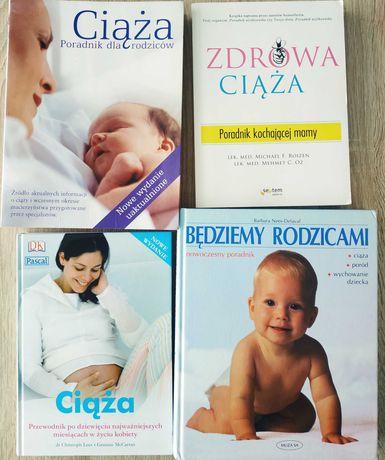 Ciąża książki zestaw 4 książek Rodzicielstwo