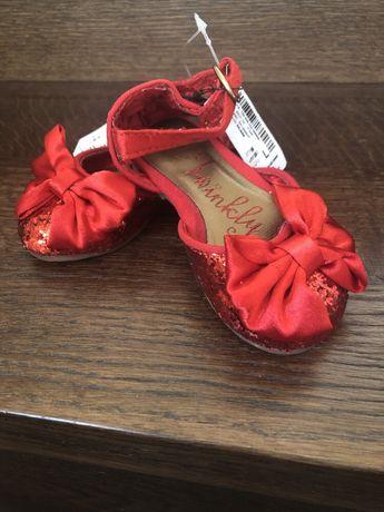 Next balerinki rozm. 19 czerwone Nowe