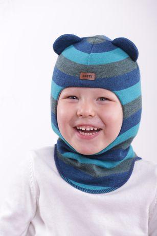 Теплые шапки шлемы с ушками Beezy,размеры все.