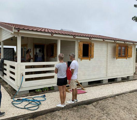 Casa de madeira prefabricada mobilehome amovivel