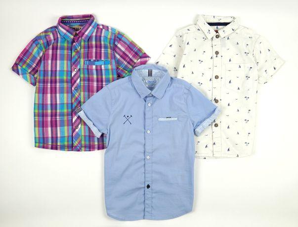 3-pak koszul/koszula na krótki rękaw (Next,TU,Mayoral) r.98 (2-3 lat)