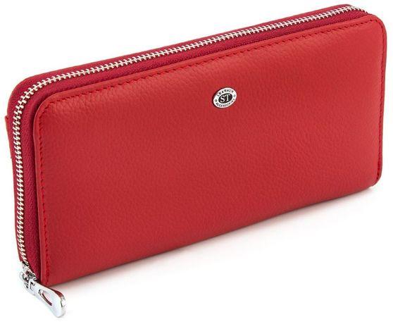Красный женский кошелек большого размера ST Leather из турция.
