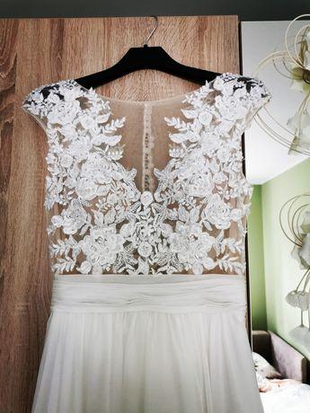 Suknia ślubna w stylu boho sweetheart