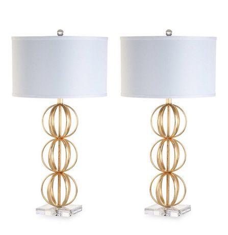 Lampy Safavieh 2 sztuki * lampa stołowa sypialnia