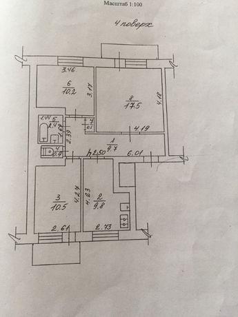 Продам 3к квартиру г. Канев, Черкасская обл, 206 Дивизия