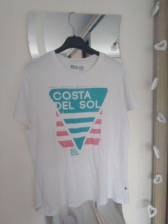 T-shirt męski biały big star S