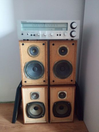 Amplituner stereo Technics kolumny Unitra Tonsil kobalt