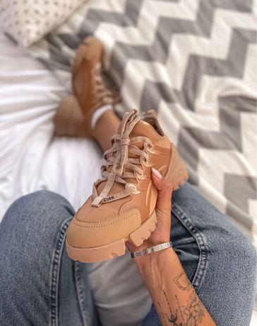 Damskie buty Dior D-Connect Beige
