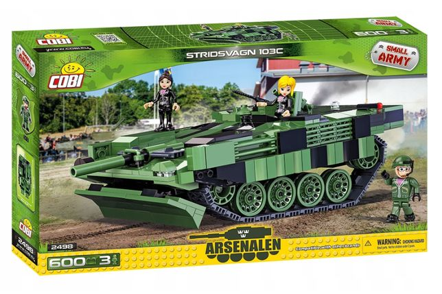 cobi duży szwedzki czołg 600 elemntow podobny do lego