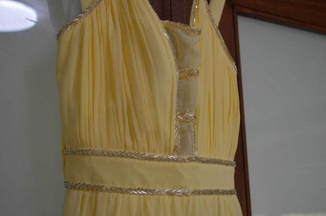 Vestido de cerimónia amarelo