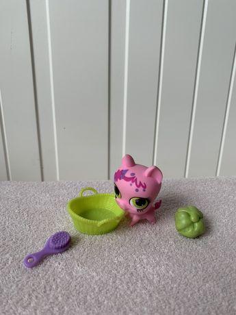 Littlest Pet Shop LPS świnka jak nowa z dodatkami