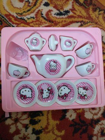 gra planszowa hello kitty figurki + zestaw porcelanowy Kitty +3 smoby