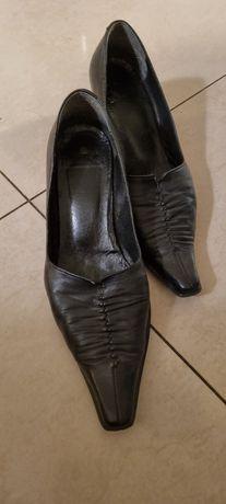 Buty damskie skórzane rozm. 36 czarne