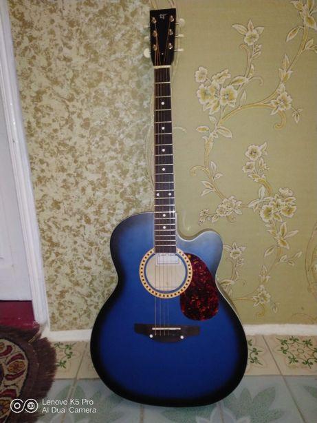 """Гітара електроакустична """"Трембіта"""" LEOTON L-01 CE BK"""
