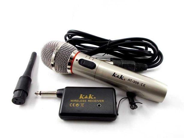 Microfone sem fio + sistema recetor