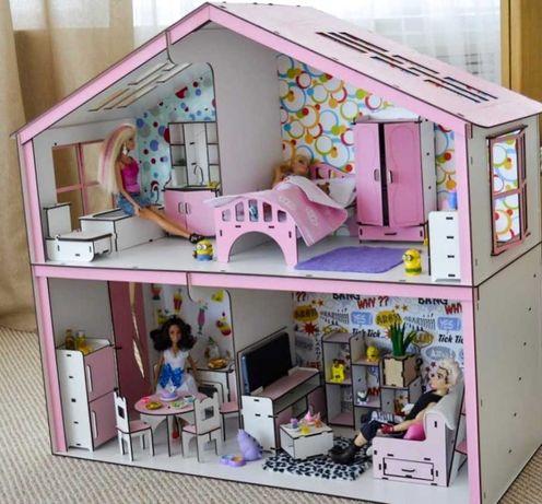 волшебный дом барби кукольный домик мебель большие куклы  lol омг