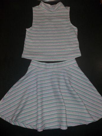 Нарядный костюм люрексом кофта и юбка на 6-7лет