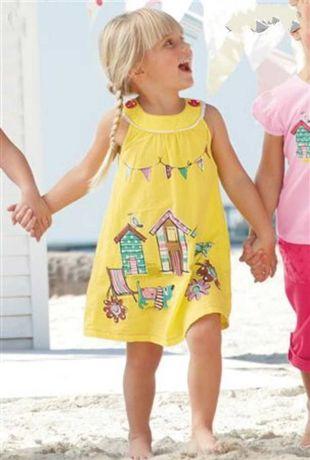 Next sukienka piesek domki lato cudo 110