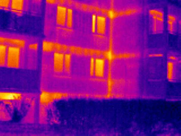 Wyszukiwanie wycieków. Badanie termowizyjne. Kamera termowizyjna Łódź.