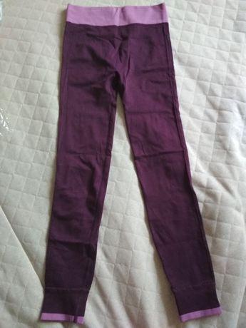 Фиолетовые лосины для фитнеса/спорта (на размер XS/S/M)
