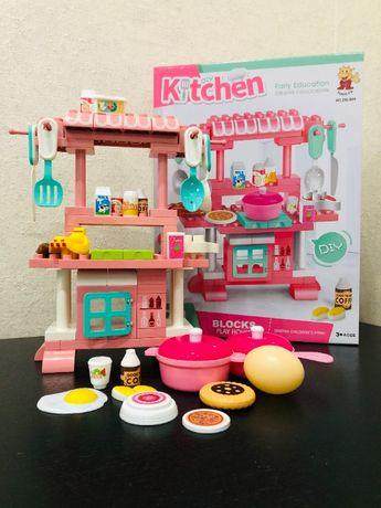Игровой набор Кухня. Детская игрушечная кухня, конструктор для девочек