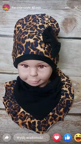 Komplet czapka dla dziewczynki