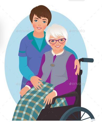 Cuidadora de idosos ao domicilio.. Ofereço-me