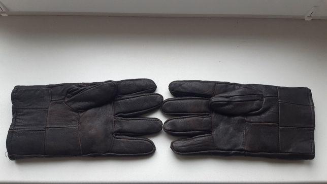 Перчатки мужские большого размера, натуральная кожа и мех