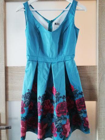 Sukienka XS niebieska nowa