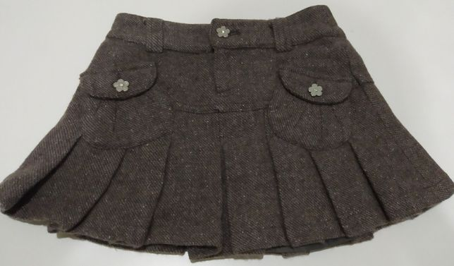 Шерстяная детская юбка юбочка на девочку 4 годика в садик