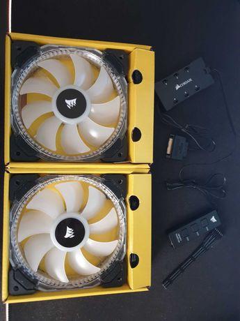 2xVentoinhas Corsair HD120 LED RGB PWM 120 mm +Controlador HD Lighting